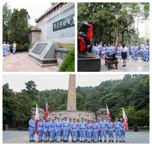 瞻仰邓萍烈士墓