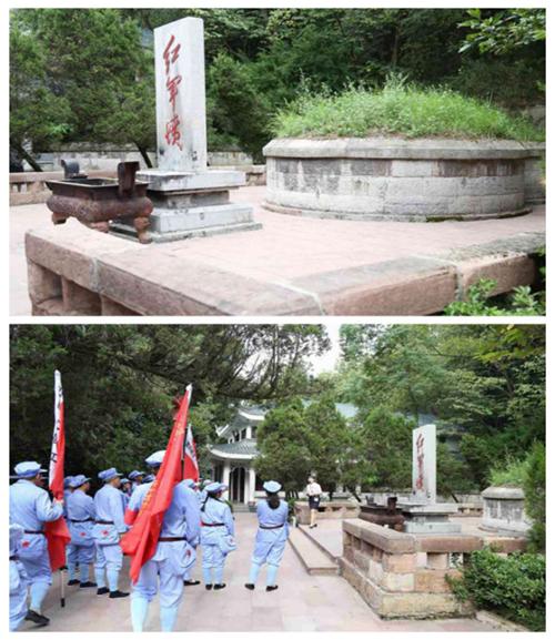 瞻仰红军坟
